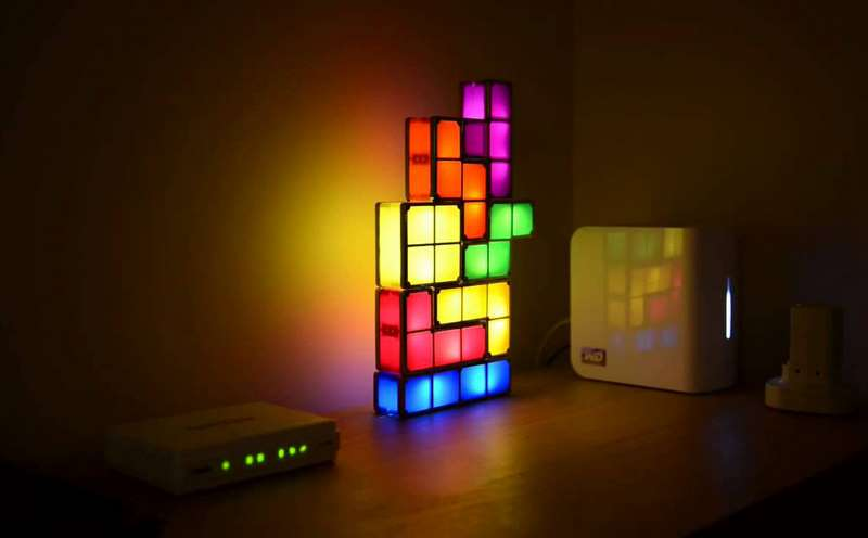 10. Lampada di Tetris