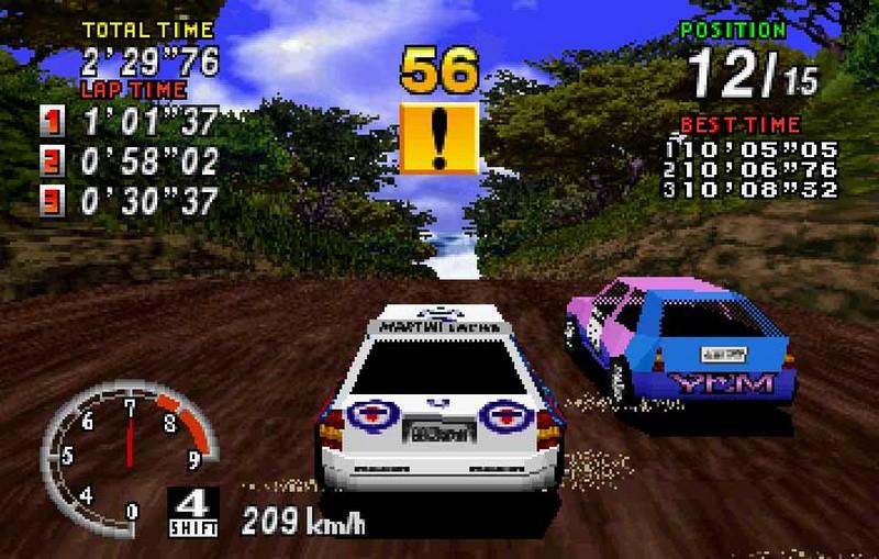 9. Sega Rally Championship (Sega, 1995)