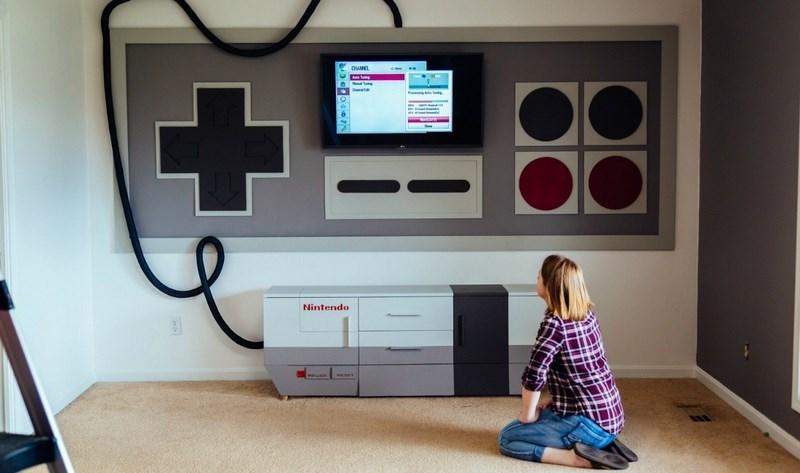 Come trasformare una stanza da giochi in un Nintendo NES