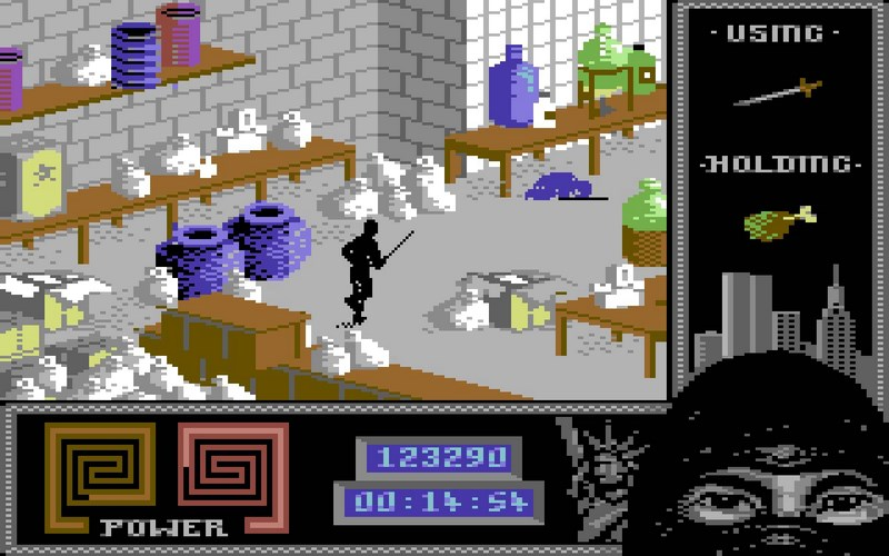 1. Last Ninja 2: Back With A Vengeance (System 3, 1988)