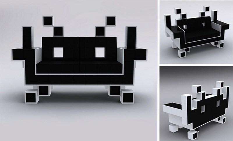 Il divano di Space Invaders