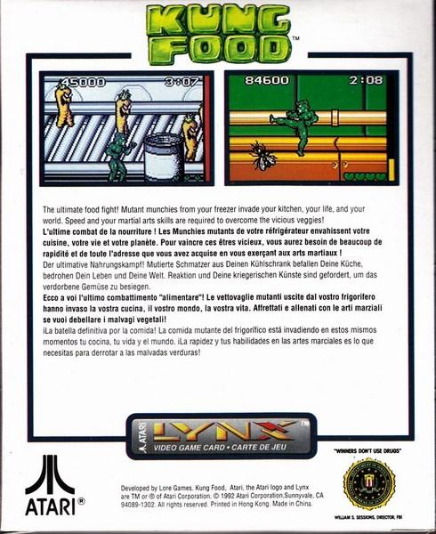 Kung Food - Atari 1992