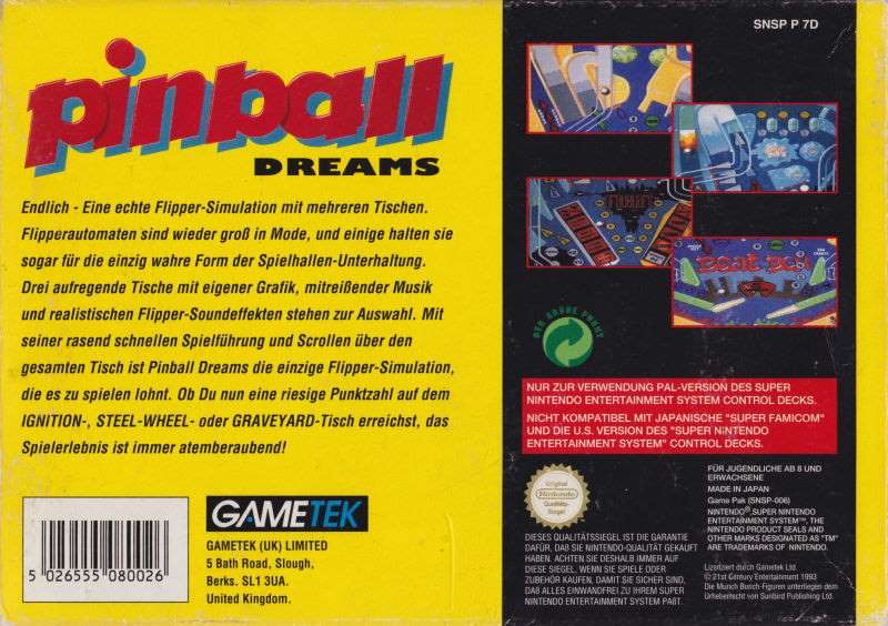 Pinball Dreams - SNES