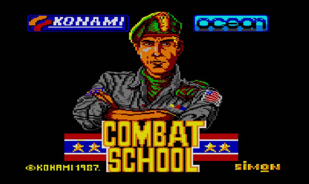 Combat School Konami-Ocean 1987 videogame
