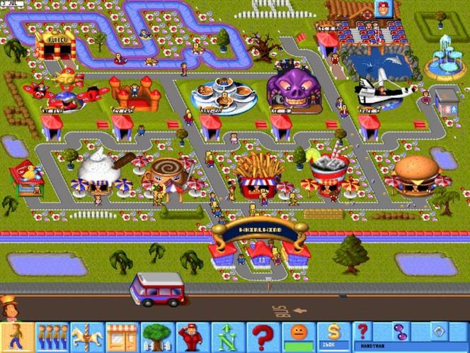 Theme Park PC videogame