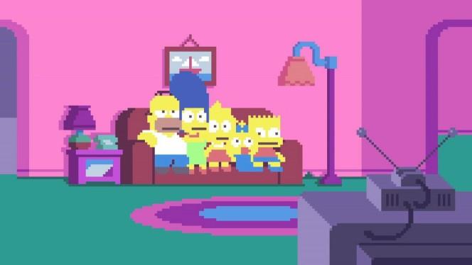 I Simpson, la sigla della serie in versione pixellosa