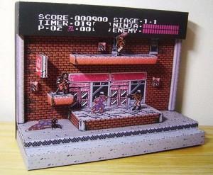 Retrogames il diorama di Ninja Gaiden