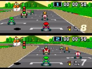 Super Mario Kart Super Nintendo videogame