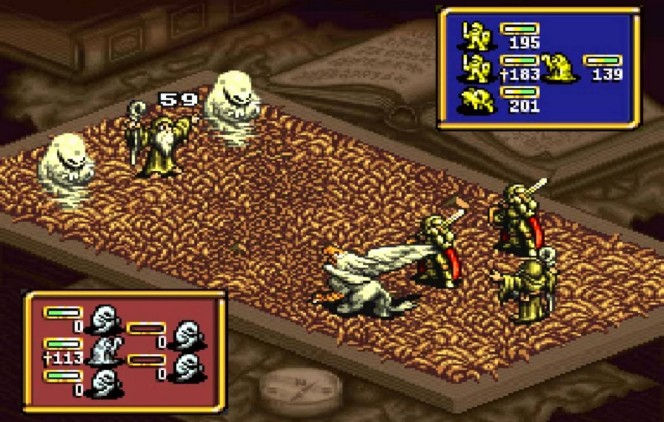 Ogre Battle: The March of the Black Queen SNES videogame