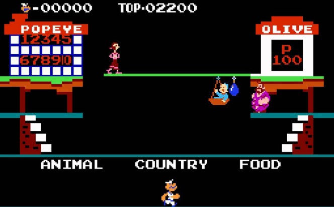 Popeye NES videogame