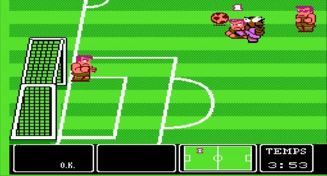Nintendo World Cup NES videogame