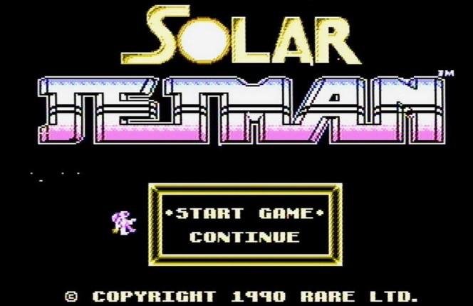 Solar Jetman NES videogame