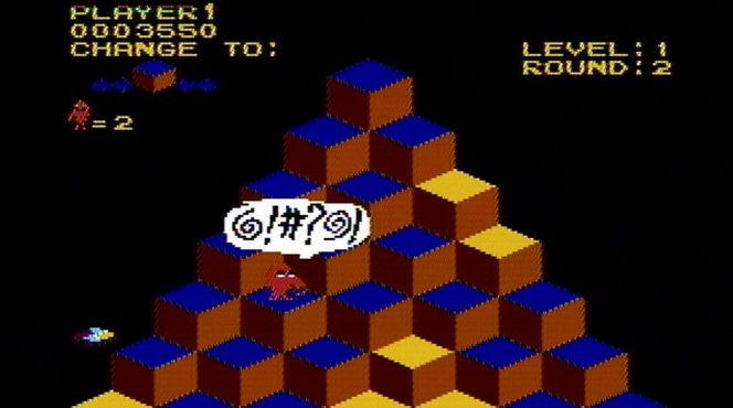 QBert NES videogame
