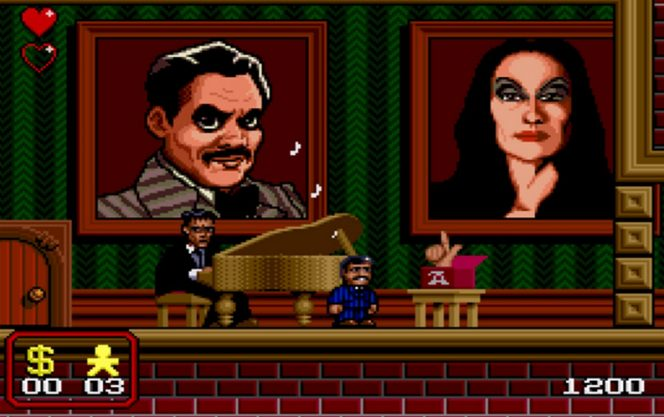 The Addams Family SNES videogame