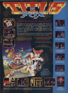 Titus the Fox To Marrakech and Back - Amiga password e codici