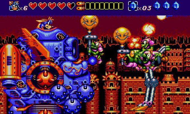 Sparkster SNES videogame