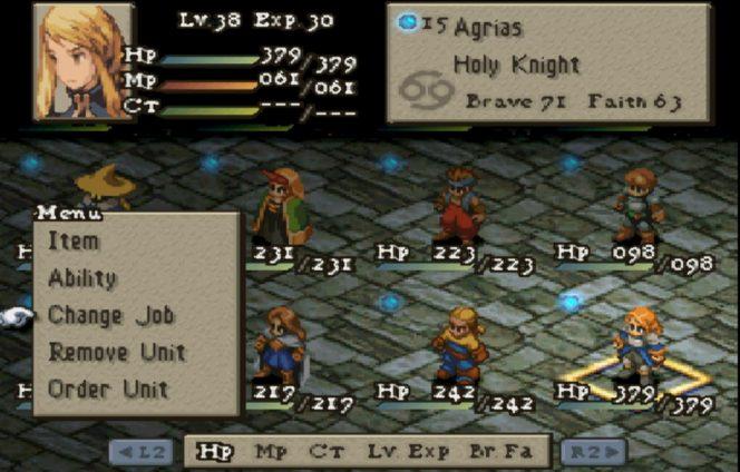 Final Fantasy Tactics - PS1 trucchi e codici videogame