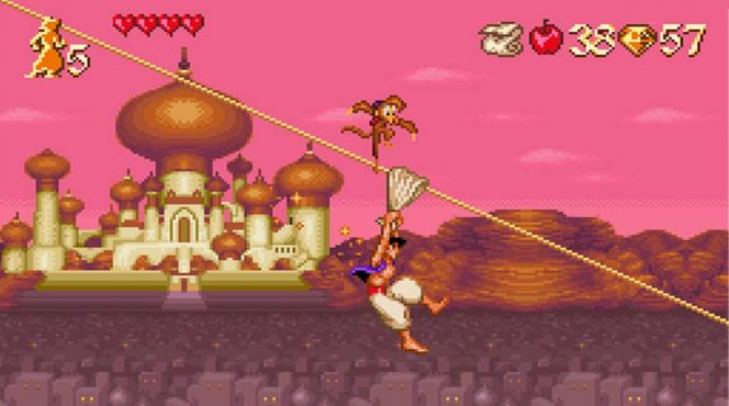 Disney's Aladdin - SNES password, trucchi e codici videogame