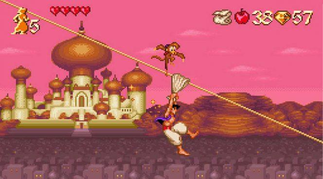 Disney's Aladdin - SNES password, trucchi e codici videogame