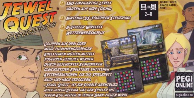 Jewel Quest Expeditions - DS trucchi e codici videogame
