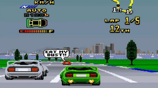 Top Gear 2 - SNES password videogame
