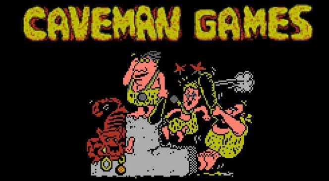 Caveman Games - NES schermata iniziale