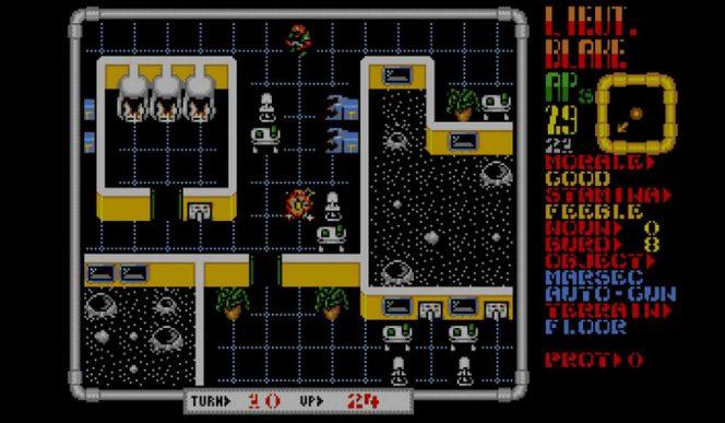 Laser Squad - Amiga codici e schermata