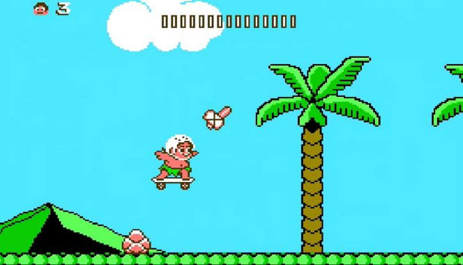 Adventure Island II NES videogame