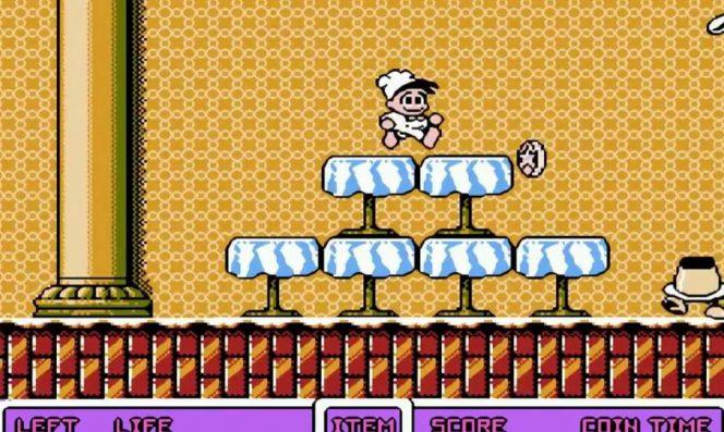 Panic Restaurant - NES videogame