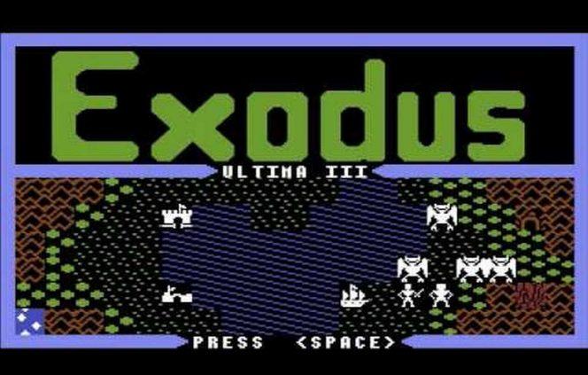 Ultima III Exodus - C64 videogame
