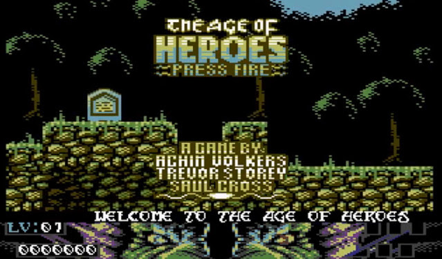 The Age of Heroes action platform C64