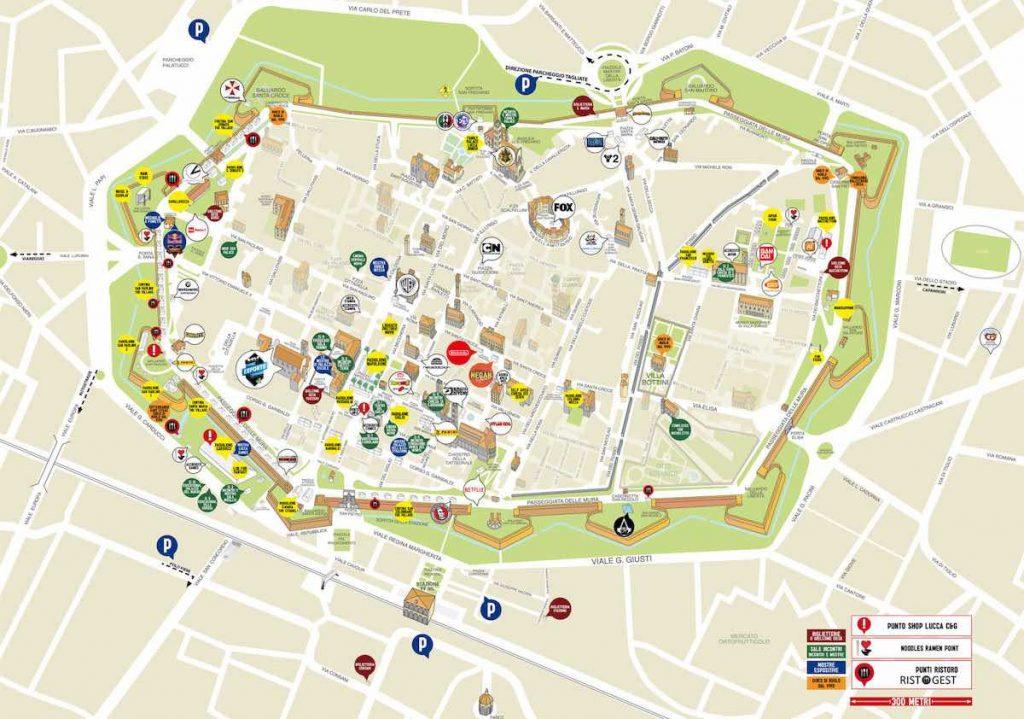 Mappa Lucca Comics