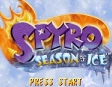 Spyro Season of Ice GBA videogame