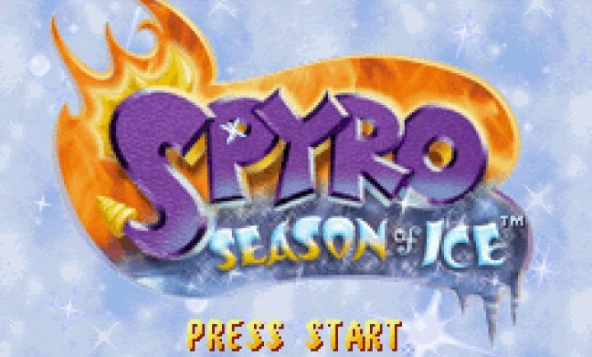Spyro Season of Ice GBA videogame