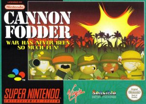 Cannon Fodder SNES cover