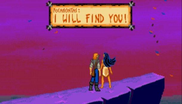 Pocahontas Mega Drive videogame